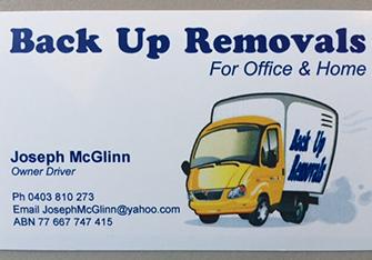 Back Up Removels